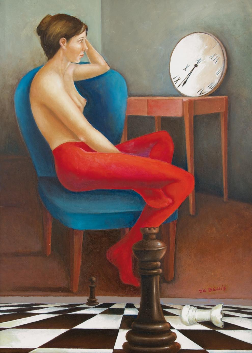 La partita del tempo, olio su tela, 50 x 70