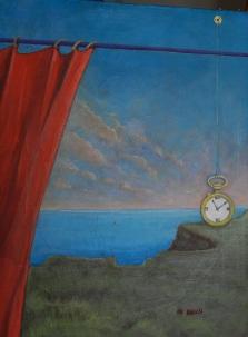 Il tempo sospeso, colori acrilici su tela, 30 x 40